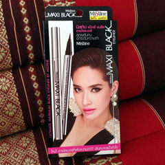 Plum produced Thailand authentic Mistine Maxi eyeliner, very thin, quick drying, Waterproof Eyeliner, not halo dye