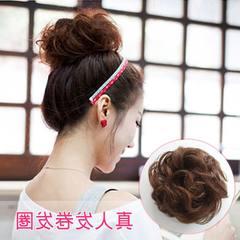 Explosive pin! Duosi human hair volume to the hair wig bag head half a head band Khaki