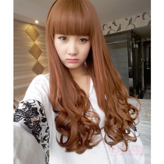 Wig, female tail, pear, hot wig, tail wig, short, long curly hair, bound wave, egg roll, fluffy, short hair Liu Qi a linen