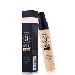 Thailand authentic mistine12 hours foundation liquid concealer, non makeup, natural oil control, moisturizing sunscreen package