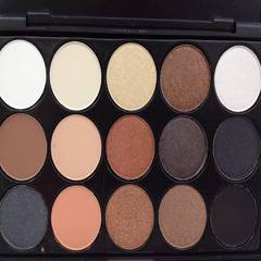 Shamei 15 colormatte pearl coffee earth color small Eyeshadow Palette box not dizzydo nude make-up smokey eye makeup