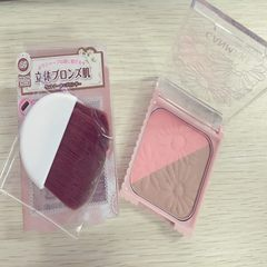 The Japanese canmake/ double color studio blush blush blush and the dual disc shadow No. 2