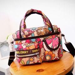 Korean version of the new adhesive cover cloth handbag Crossbody Bag mummy bag small bag simple travel female bag mail Khaki