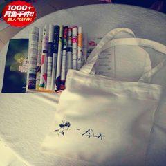 The original design hand-painted art pigment Canvas Tote canvas bag Crossbody Bag Shoulder singles simple cloth