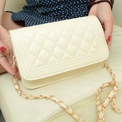 2017 new handbag shoulder diagonal handbag small sachet portable mini stylish bag bag Small white Sachet