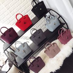 Yang Yang family original portable dumplings 2017 spring and summer fashion trend all-match Crossbody Bag female Rubber powder