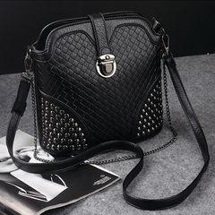 2016 new spring tide bag lattice shell bag handbag female Vintage Single Shoulder Bag Messenger small bag Rose red