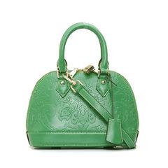 The new shell bag leather handbag fashion handbag small PRAD handbag leather embossed Tuba