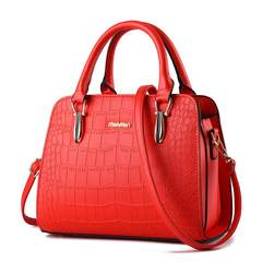 2017 new bag handbag crocodile bag Crossbody Bag Korean shell bag female Xia Xinpin cross Sky blue upgrade