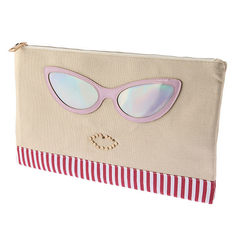 Cool cute glasses bag bag computer bag bag fight tablet iPad classic style Red stripe decoration