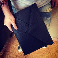 Metrosexual hand bag handbag all-match Korean envelope night shop hair stylist men's casual bags leisure bags black