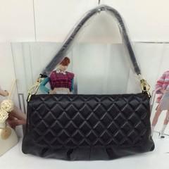 Richard Gelisha Genuine Leather Shoulder Bag Handbag Lingge Crossbody Bag all-match portable Kraft envelope Black letters