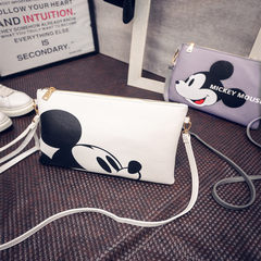 2015 new summer bag Han Chao Mickey cartoon printed envelope bag shoulder bag hand bag OK, white Mickey