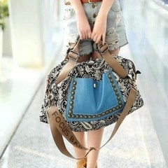 Women, Messenger, bag, famale, should, bags, ladies, handbags, bags blue