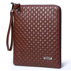 New leather fashion casual bag, tide shoulder bag, retro package, leather letter bag, men's bags Dark brown