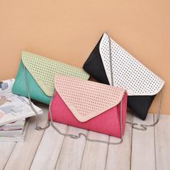 Special offer summer fresh sweet color envelope chain bag leather shoulder bag lady temperament hollow black