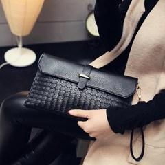 29.9 yuan parcel post 2016 new woven hand bag, letter bag, Single Shoulder Satchel, large capacity hand bag, tide bag Rose red