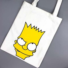 Japanese Harajuku ulzzang Simpson canvas bag bag shopping bag bag female simple cartoon bag National flag