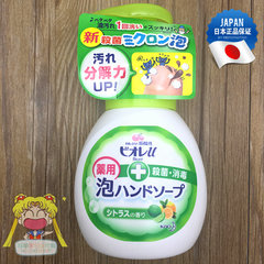 Japan Kao KAO dense foam type liquid soap children baby baby fruity floral 250ml available Green Citrus