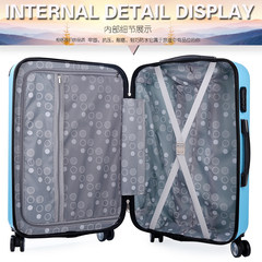 Luggage trolley and student universal wheel 20 inch suitcase password 22 inch 24 inch suitcase Zichao bags 20 inch Sky blue, 8003 days blue