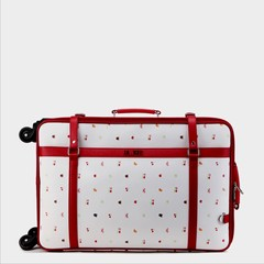 Box soft student suitcase, password boarding suitcase, hand pull box, 24 inch universal wheel, retro 24 inch white