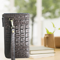 O-RHINO brand cheap customized genuine crocodile handbags and other leather belt business Handbag Purse Bag mail Dark brown