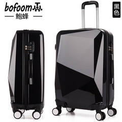 Pull case 24 inch suitcase male universal wheel mother box female 20 travel student suitcase 28 boarding password 24 inch [collection], send ten gifts Black with rose red [mirror section] single box