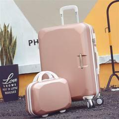 /22 inch suitcase, password travel, crate, zip, Korean press box, ladies' wheel, pink 20 inch Blackish green