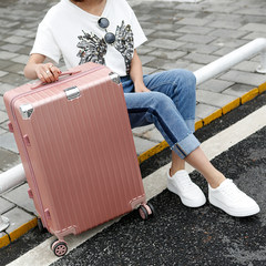 Suitcase, female case, draw case, universal wheel, 24 inch student travel case, 22 password box, Korean version, male box, 20 20 inch Wathet