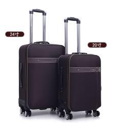 行李箱万向轮男24密码箱牛津布旅行箱包软箱女28 26寸学生拉杆箱 20寸 墨绿色