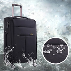 Middle and old man universal pulley box, waterproof Oxford cloth, 24 inch travel case, soft case, female 20 cases, 28 inch sail 20 inch black
