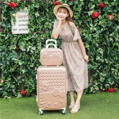 Lady Mini suitcase 16 inch suitcase trolley female 20 inch soft cute Retro Red Tide suitcase box 20 inch KT mint green single box