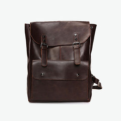 Square houlest original design, handmade, literature and art, small fresh men and women with the same bag brown