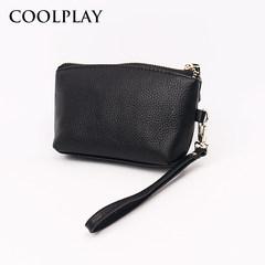 Hand bag leather handbag purse 2017 new leather multifunction bag Clutch Purse Purple taro