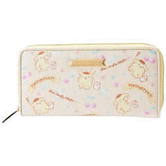 The Japanese shopping bag mail Sanrio cartoon cute adorable girl Sanrio pudding dog heart bag Long Wallet About two weeks