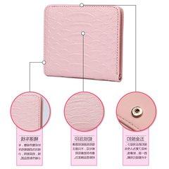 Ultrathin wallet short all-match small fresh female Korean multi-function student soft leather Blackish green