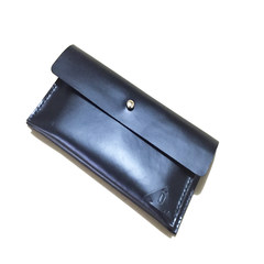 [step] hand for personality, original retro, handmade leather, leather cowhide, hand bag, zero wallet black
