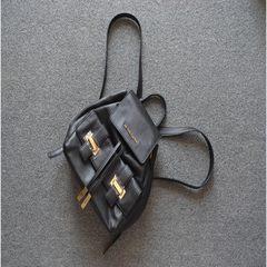 Black Leather Backpack Bag black