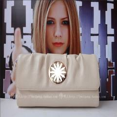 Hand bag 2017 female new leather summer white bag leather bag big party fold clutch in Europe Fashion rice white