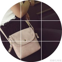 Mori complex small bucket shoulder bag 2017 new winter leather Crossbody Bag Korean fashion small bag black
