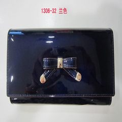 Special offer a counter genuine Emily fashion LEATHER HANDBAG PURSE WRISTLET WALLET 1306 blue