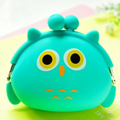 2017 New Cute soft sister, mini zero purse, creative personality buckle, female coin bag, cartoon silica gel, hand bag Owl 4