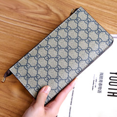 Ladies handbags wallet zipper bag Clutch made of large capacity mobile phone all-match ultra-thin wrist bag GD blue