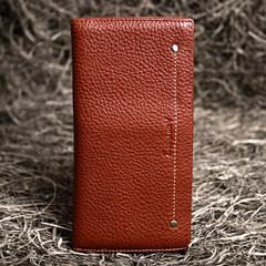 Tibetan leather authentic 2017 new men's purse, long men, ladies purse, long Korean version, genuine leather wallet brown