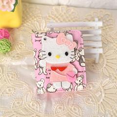 Hello Kitty Cat mirror, cartoon zero purse, new female cartoon, lovely student, children's short and Long Wallet Bear KT short