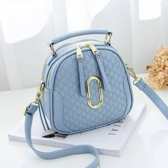 小包包2017新款韩版潮迷你单肩斜挎包时尚简约夏季百搭女士手提包 浅蓝色
