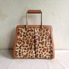 Connie's new leather bag, European fashion lady, leather leopard handbag 042-3