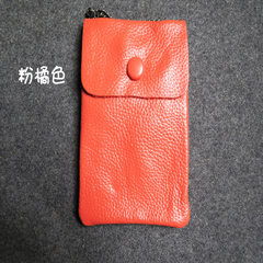 Clearing cabbage price! Top layer leather mini mobile phone Wallet Chain shoulder bag Weihuo cross Orange powder