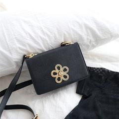 2017 New Fashion Bag Satchel Mini Handbag Shoulder Bag Handbag flower lock small bag Korean tide black