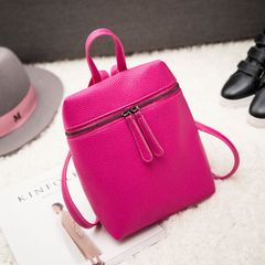 The new version of the new 2017 small fresh female PU leather backpack mini mobile phone small backpack all-match Ms. Rose red